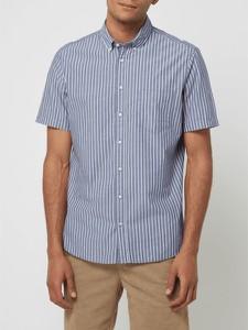 Granatowa koszula Montego z kołnierzykiem button down w stylu casual