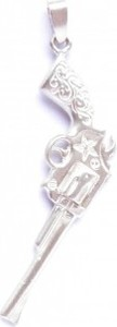 Venus Galeria Wisiorek srebrny - Rewolwer