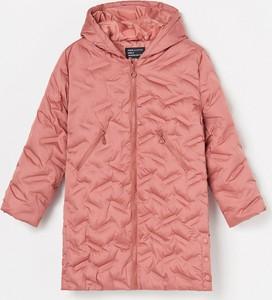 Różowy płaszcz dziecięcy Reserved