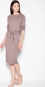 Sukienka sukienki.pl midi z długim rękawem