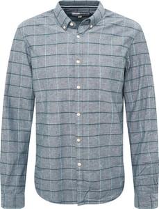 Niebieska koszula Tom Tailor Denim z długim rękawem z bawełny