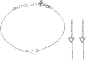 Irbis.style srebrny komplet biżuterii - bransoletka i kolczyki