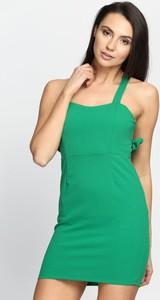 Zielona sukienka Multu dopasowana mini