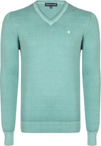 Turkusowy sweter Giorgio Di Mare w stylu casual