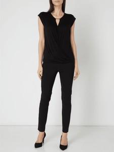 Czarna bluzka Esprit z krótkim rękawem