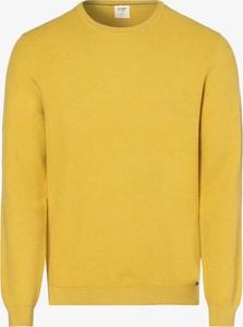 Żółty sweter Olymp Luxor Modern Fit w stylu casual