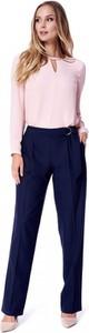 Granatowe spodnie POTIS & VERSO z wełny