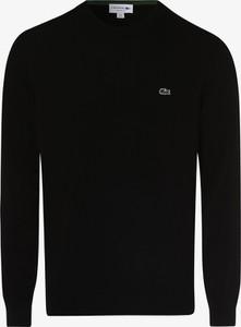 Czarny sweter Lacoste z bawełny w stylu casual
