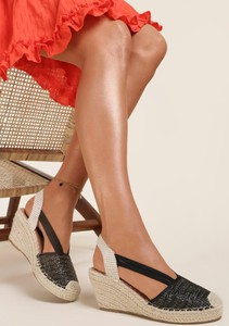 Czarne sandały Renee z klamrami