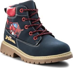 Niebieskie buty dziecięce zimowe Spiderman sznurowane