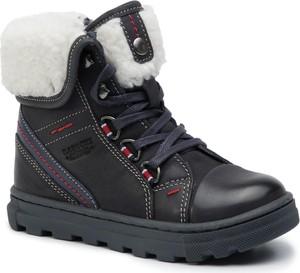 Czarne buty dziecięce zimowe Lasocki Kids sznurowane