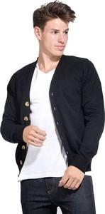 Granatowy sweter William De Faye