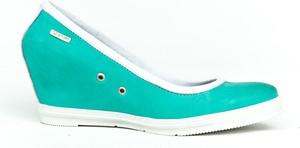 Niebieskie półbuty Zapato ze skóry