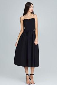 Czarna sukienka sukienki.pl gorsetowa