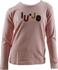 Różowa bluzka dziecięca Liu-Jo