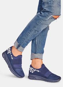 Niebieskie buty sportowe DeeZee z płaską podeszwą