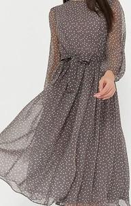 Brązowa sukienka Kendallme midi trapezowa
