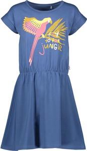 Granatowa sukienka dziewczęca Lamino