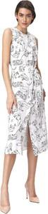 Sukienka Nife midi z okrągłym dekoltem bez rękawów