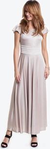 Sukienka POTIS & VERSO z tkaniny z krótkim rękawem maxi