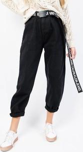Czarne jeansy Olika z jeansu w sportowym stylu