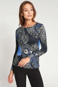 Bluzka QUIOSQUE z okrągłym dekoltem z długim rękawem w stylu casual