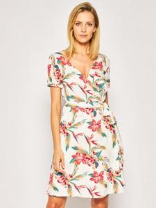 Sukienka Roxy z krótkim rękawem z dekoltem w kształcie litery v