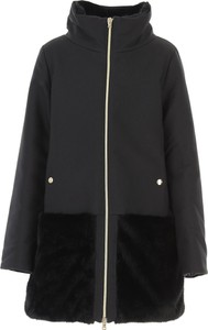 Czarny płaszcz dziecięcy Herno z bawełny