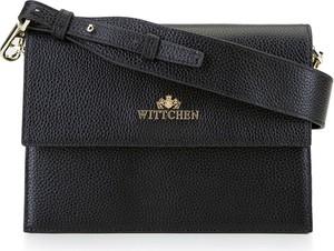 Czarna torebka Wittchen na ramię ze skóry średnia