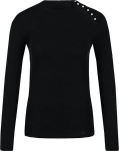 Czarna bluzka Guess Jeans z wełny