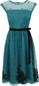 Sukienka POTIS & VERSO midi z okrągłym dekoltem z tiulu