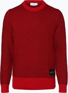 Czerwony sweter Calvin Klein z bawełny w stylu casual