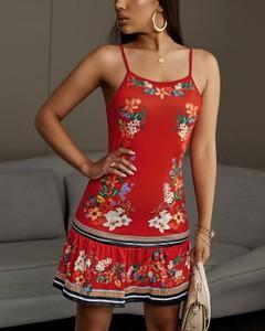 Sukienka Kendallme na ramiączkach z odkrytymi ramionami z okrągłym dekoltem