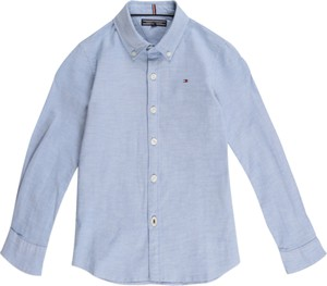 Niebieska koszula dziecięca Tommy Hilfiger z tkaniny