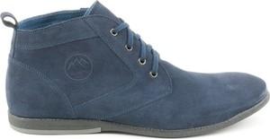 Buty zimowe AKARDO sznurowane ze skóry