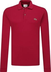 Czerwona koszulka polo Lacoste z długim rękawem