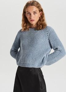 Granatowy sweter Cropp w stylu casual