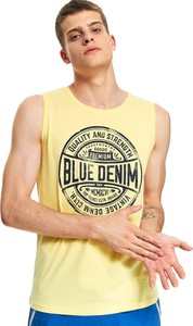 Żółta koszulka Top Secret z nadrukiem