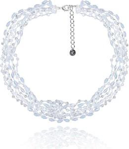 POLSKA Ślubny naszyjnik w stylu Glamour biały