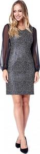 Sukienka POTIS & VERSO z szyfonu z dekoltem w kształcie litery v