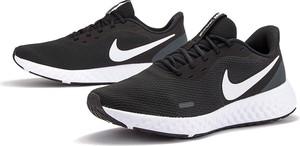 Czarne buty sportowe Nike revolution sznurowane