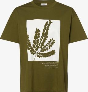 Zielony t-shirt Marc O'Polo DENIM z okrągłym dekoltem z bawełny