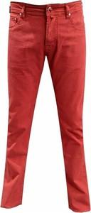 Czerwone jeansy Jacob Cohen z tkaniny