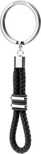 Manoki Czarny brelok z bawełnianego sznurka