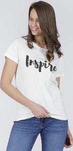 T-shirt Cross Jeans z krótkim rękawem w młodzieżowym stylu