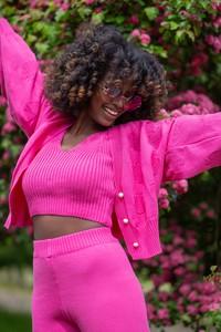 Różowy Fobya w stylu casual