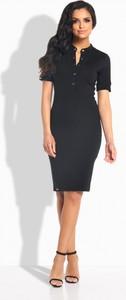 Czarna sukienka Lemoniade dopasowana midi