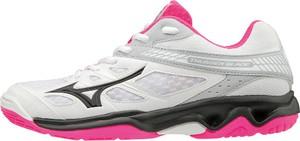 Buty sportowe Mizuno z płaską podeszwą w sportowym stylu sznurowane