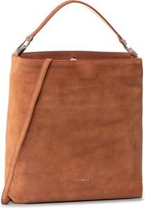 Brązowa torebka Coccinelle duża na ramię w stylu casual