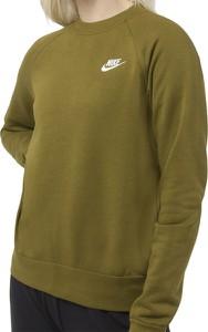 Zielona bluza Nike w sportowym stylu z bawełny